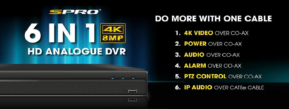 HD Analogue 4K CCTV DVRs