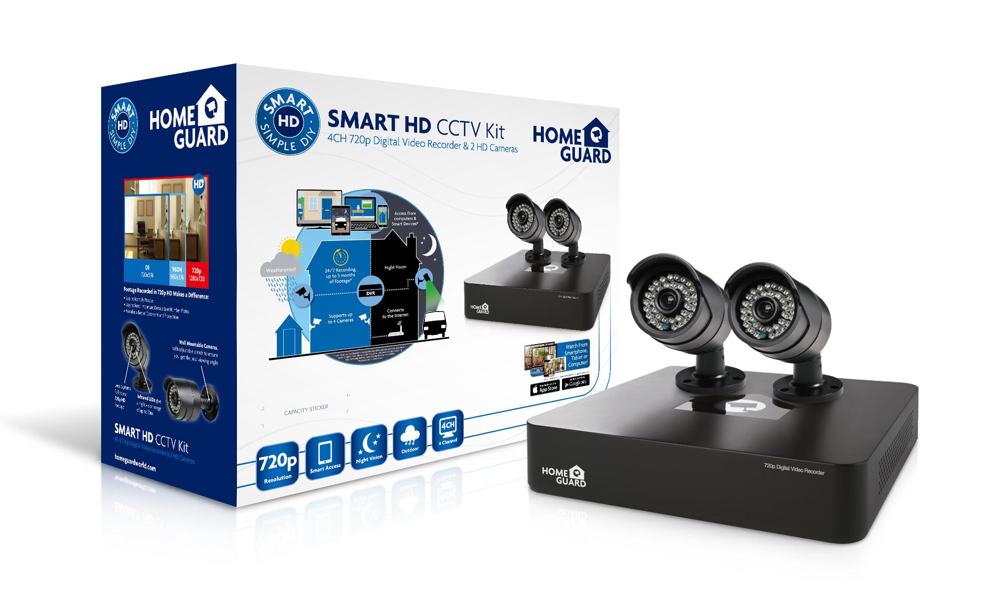 2 Camera System Cctv Kit Complete Surveillance System