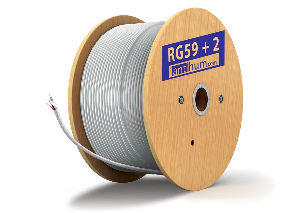 RG59 mini PVC white 100m