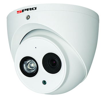 SPRO HD 2MP Turret Camera with Audio Over Coax DHD20-28RW-4-T-M