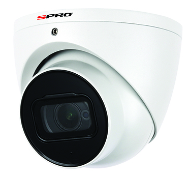 SPRO 4K 8MP 15FPS Fixed Lens Dome Camera 50m IR, Audio, Star Light Tech.