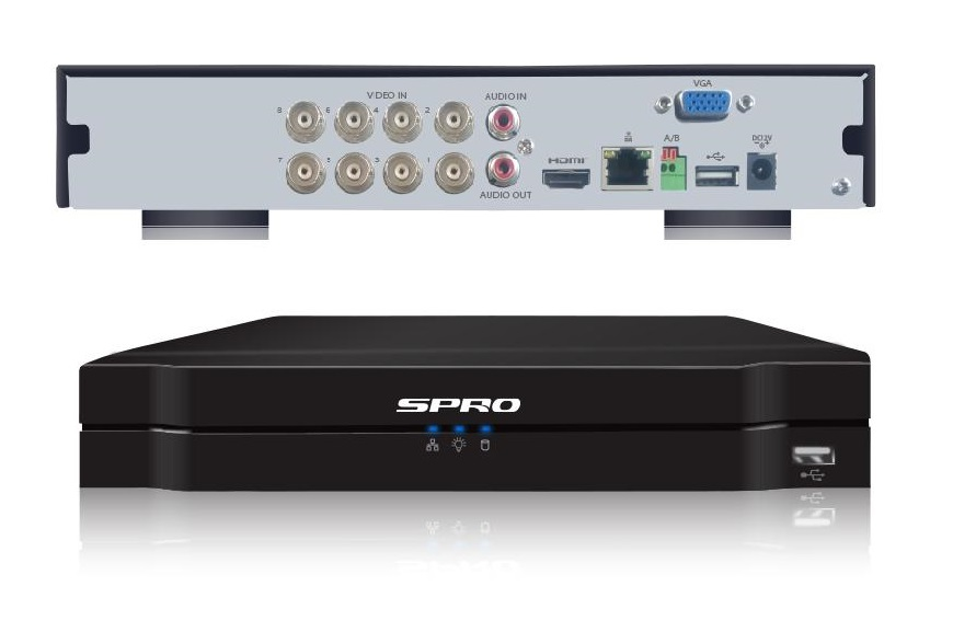 SPRO B3 8MP 12 Channels 5in1 DVR