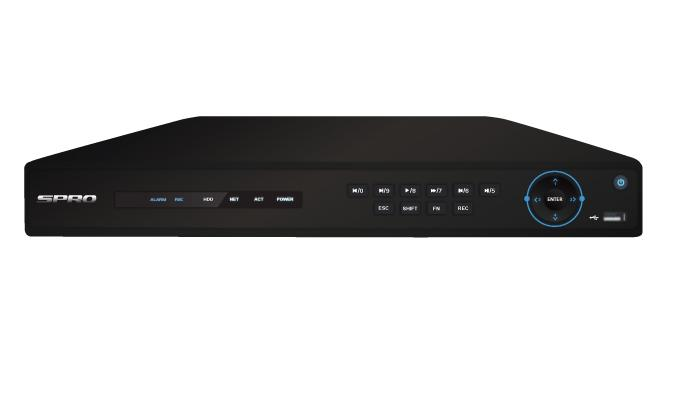 SPRO M1 16 Channel 1080p HD Analogue DVR - DHDVR24-B3