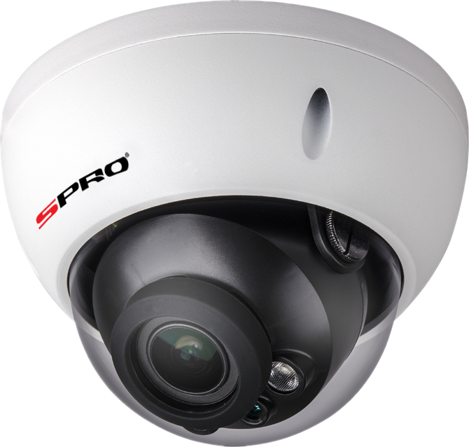 SPRO 3 Megapixel Vandal Resistant IK10 Rated Dome IP Camera 30m IR Night Vision