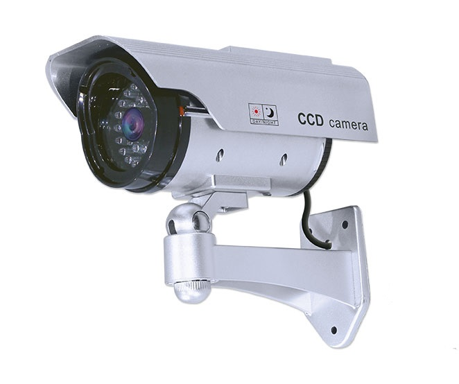 Decoy Bullet Security Camera With Solar Powered Re-Chargable LED