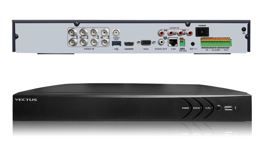 VECTUS 5MP 8 Channel DVR 4in1 with POC