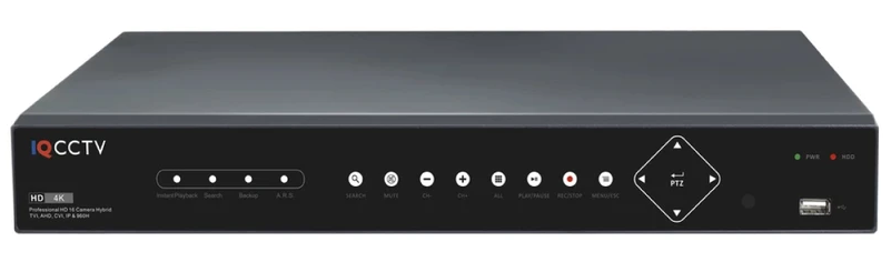 IQCCTV 5MP Lite 16 Channel Hybrid 5in1 DVR - IP and AHD