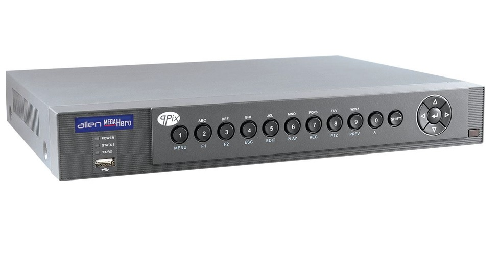 Alien Mega Hero Digital Video Recorder With Analogue, HD-TVI and IP Inputs