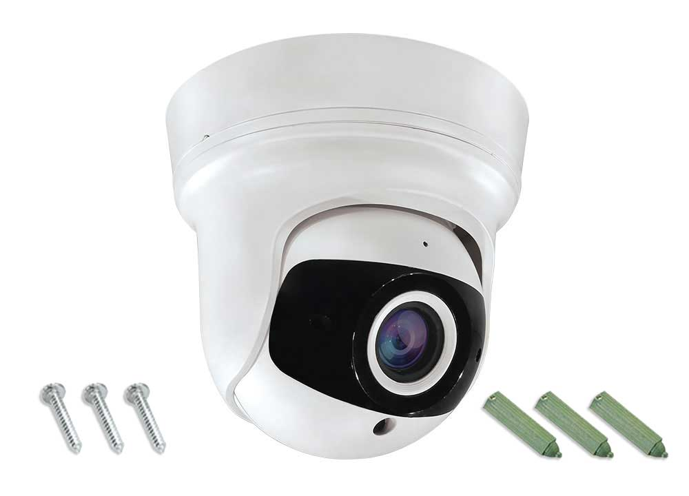 2.8-12mm Hybrid Eyeball Dome Camera White HD-TVI/CVI/AHD Supported
