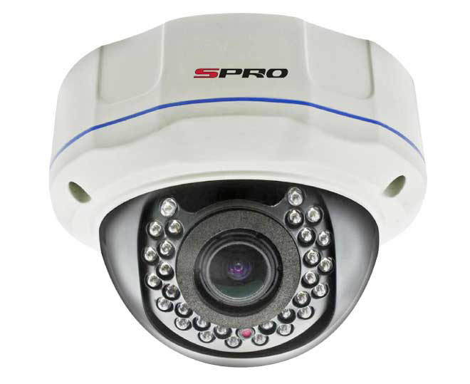SPRO 1.3 Megapixel Vandal Resistant AHD Outdoor Dome Camera with 30m IR Night Vision Range