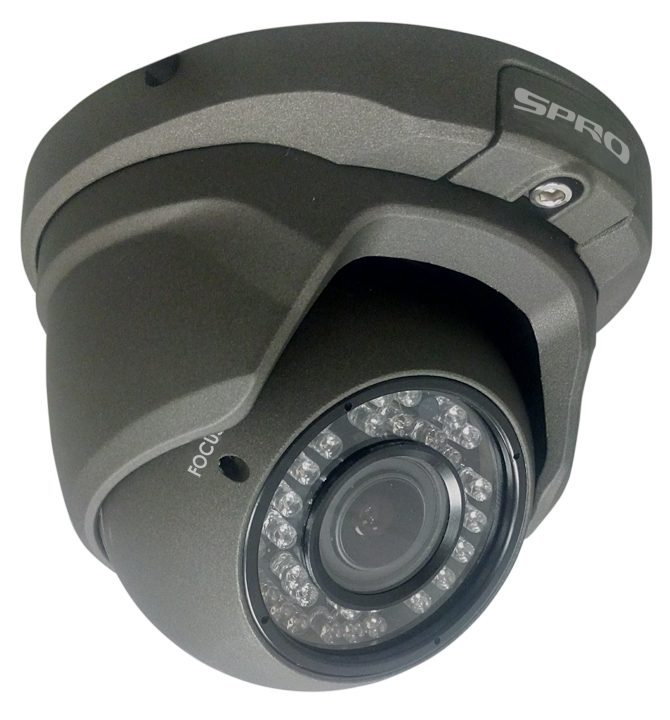 SPRO 2 Megapixel 1080p 25 FPS HD CVI Eyeball Vari-focal Dome Camera with 30m IR Range
