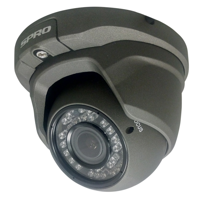 SPRO Eyeball AHD Security Camera with 1080p Resolution + 30m IR Night Vision Range