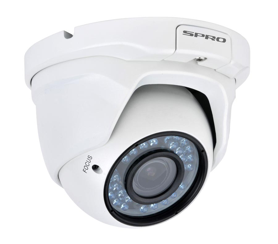 SPRO 2 Megapixel AHD Vari-focal Eyeball Dome Camera 36Pcs IR LEDs Supports 30m Night Vision