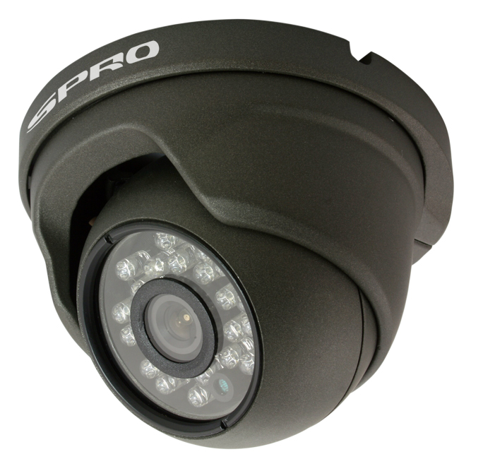 SPRO 2 Megapixel 1080p AHD Eyeball Dome Camera with 23Pcs IR LEDs Supporting 15m IR Night Vision