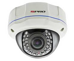SPRO Sony EFFIO-E 960H Vandal Resistant Dome Camera 700TVL - Wall Mount Bracket Optional