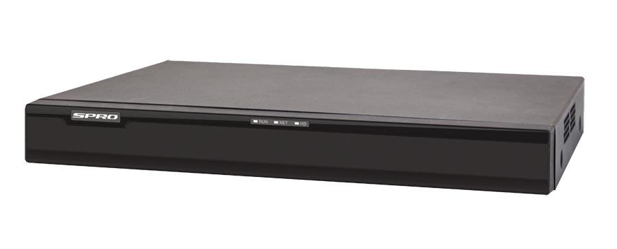 SPRO 16 Channel HD IP NVR 6 Megapixel NVR with Built In POE