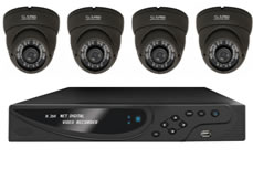 4 Indoor/Outdoor Vari-focal Cameras 700TVL + 960H DVR with Plug & Play Network Connection