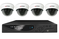 Four 700TVL Indoor Cameras + Network 960H Realtime DVR + Mobile Connectivity