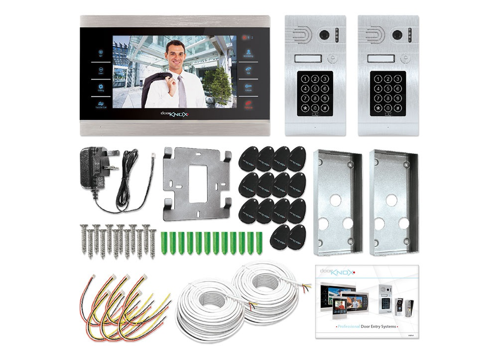 Dual Camera Secure Access Video Door Entry Kit Doorknox Systems Vdp610