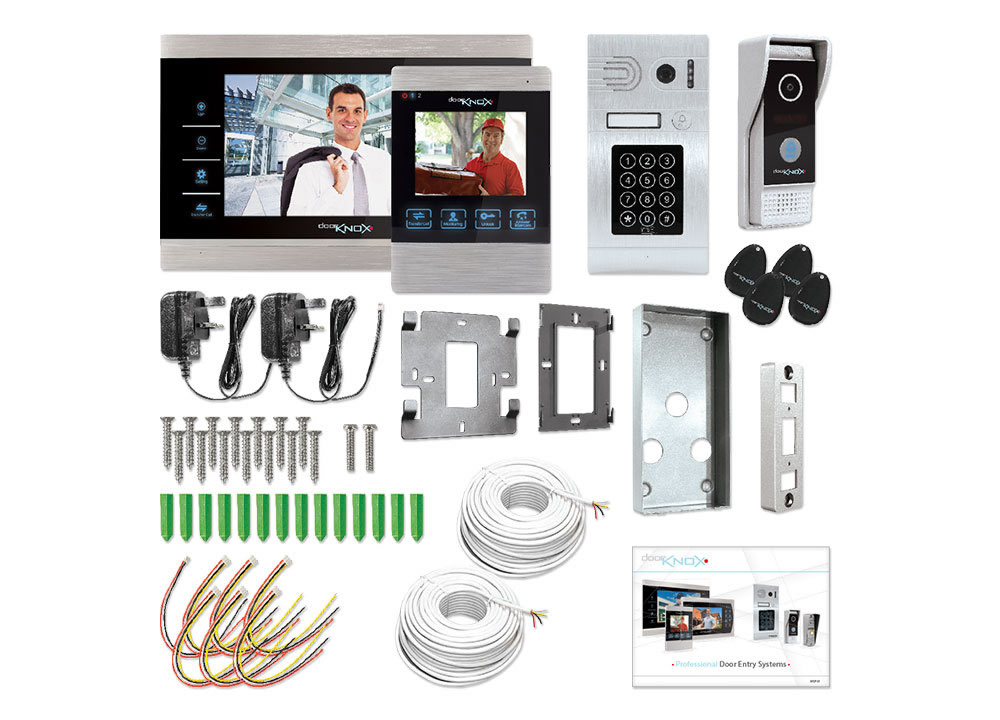 Dual Camera Dual Monitor Video Door Entry Kit Doorknox Systems Vdp612