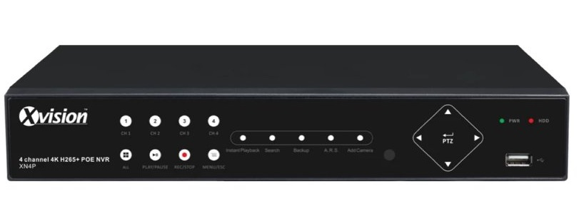 Xvision 8MP 4 Channel HD-IP Professional NVR