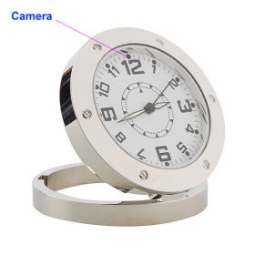 Spy Camera Sun Dial Clock With Motion Detection and Audio Supported